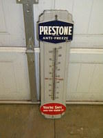 $OLD Prestone Porcelain Thermometer