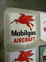 $OLD Mobil Aircraft PPP Porcelain Sign