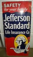 $OLD Jefferson Standard Lighthouse Sign Porcelain