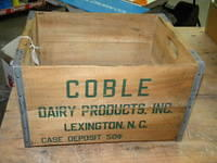 $OLD Coble Dairy Buttlermilk Wooden Crate/Box