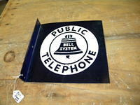 $OLD Bell Telephone Porcelain Flange Sign