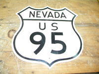 $OLD US 95 Nevada Aluminum Relfective Shield Sign