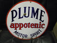 $OLD Plume Motor Spirit DSP Sign