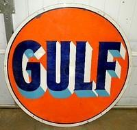 $OLD 42 Inch DSP Porcelain Gulf Sign