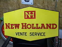 $OLD New Holland Tractor SST Tin Sign French