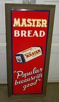 $OLD Master Bread Embossed Tin Sign