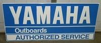 $OLD Yamaha Outboard Emb Tin Sign