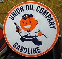 $OLD Union Oil Company Porcelain Sign (new) w/ Speedy
