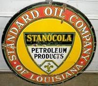 $OLD Stanocola DSP Porcelain 30 Inch Sign Standard of Louisiana