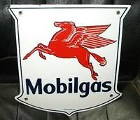 $OLD Mobilgas PPP Porcelain Pump Plate Sign