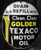 $OLD Texaco Curved Porcelain PPP Sign