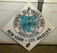 $OLD National Old Trails Road Highway Sign NY to LA Route 66
