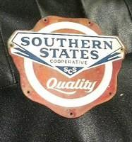 $OLD Southern States Quality Diecut Tin Sign