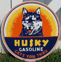 Wanted: Original Husky Gasoline Signs Porcelain or Tin